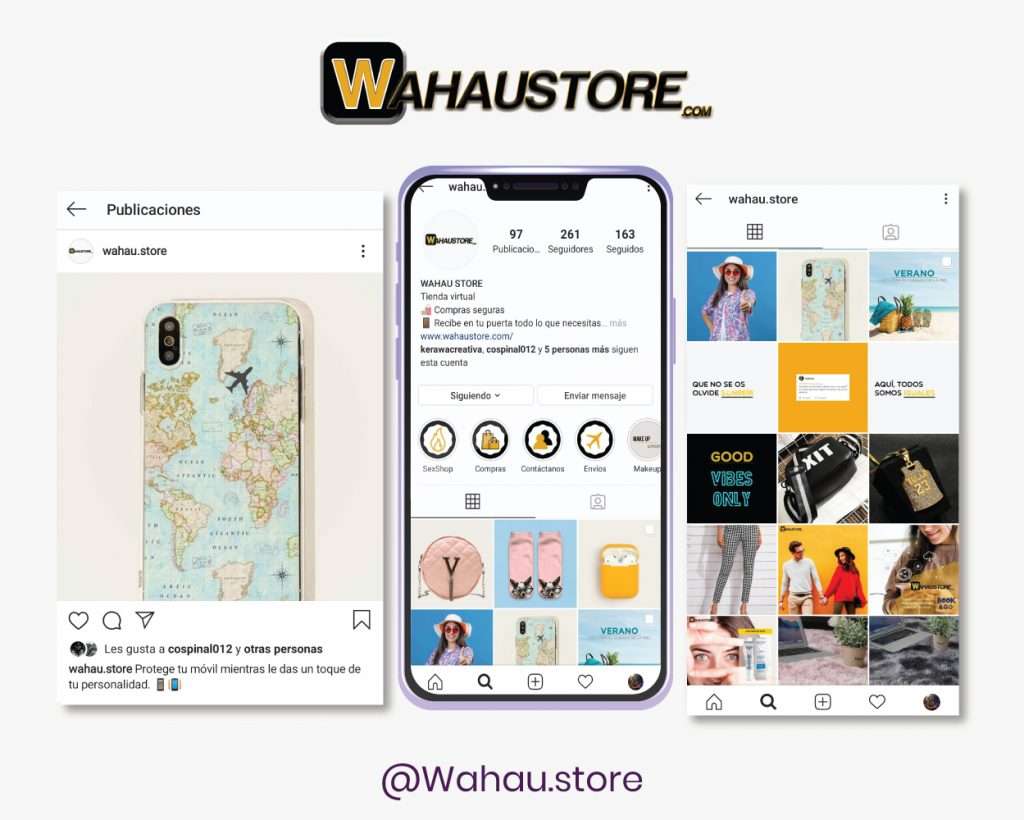 Redes sociales Wahaustore